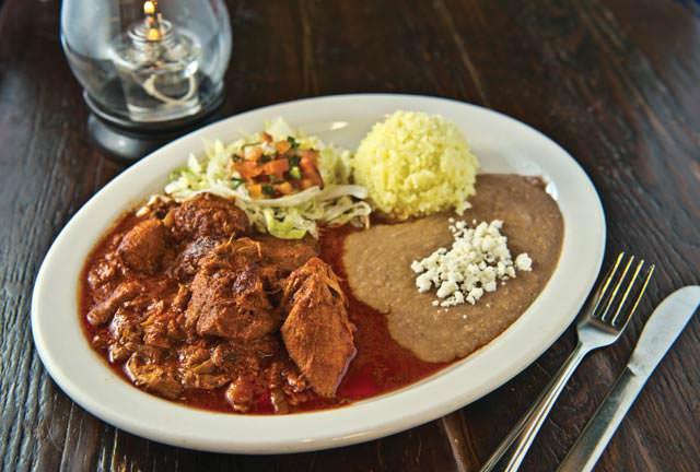 Mole Mexican dish at Adelita's