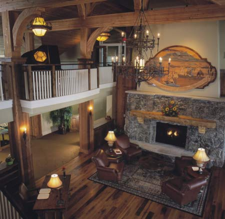 Inside the lobby at the Powder Horn