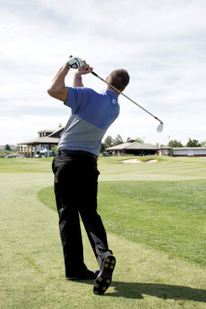 After you have prepared for your shot, hit it and live with the results