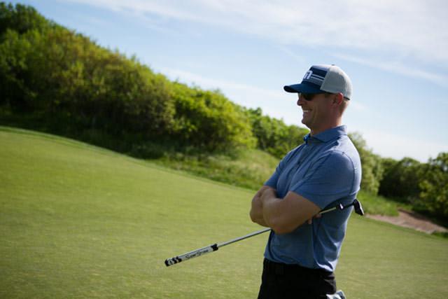 Joel Klatt enjoys his time on the golf course