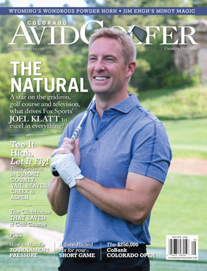 Joel Klatt on the July 2016 cover of Colorado AvidGolfer