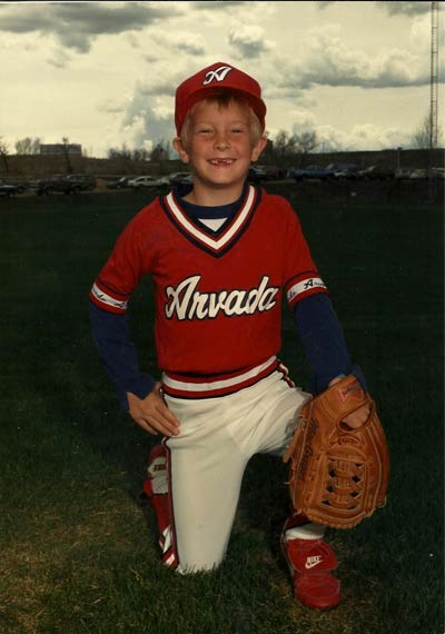 Joel Klatt as a 10-year-old Little Leaguer