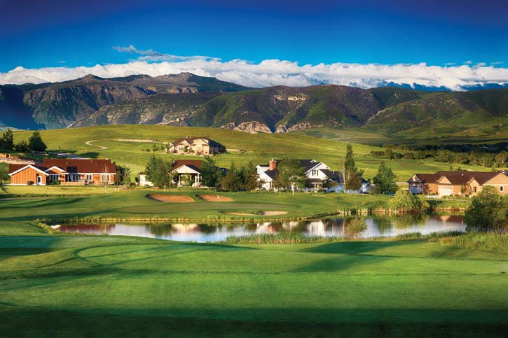Powder Horn in Sheridan, Wyoming wows with the Big Horn Mountains in the background