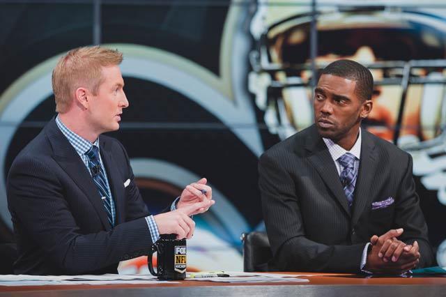 Joel Klatt and Randy Moss talk football for Fox Sports