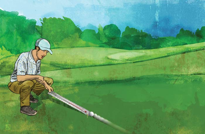 Does climate change affect golf?
