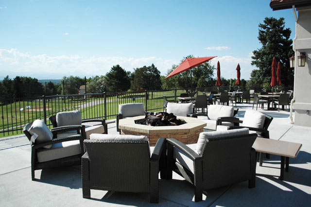 A firepit on the patio as part of The Ranch Country Club's $5.5 million renovation in Westminster, Colorado