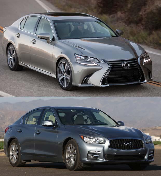 Comparison: 2016 Infiniti Q50 2.0t & 2016 Lexus GS200t