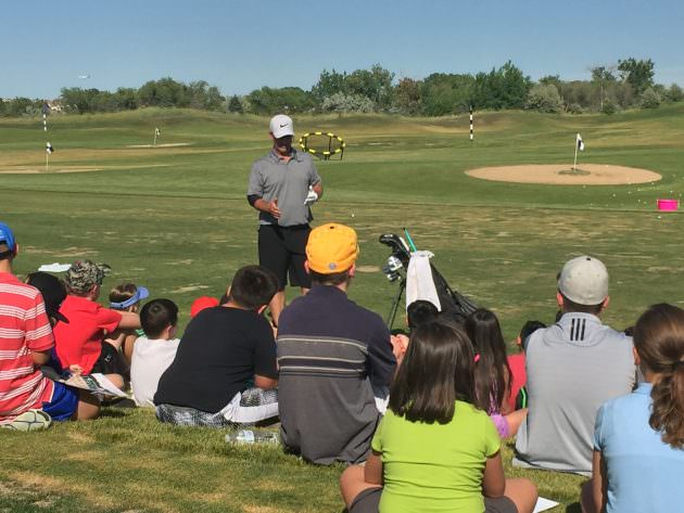 David Duval at First Tee event