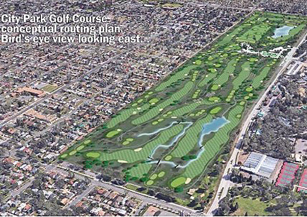 Conceptual drawing of redesigned City Park Golf Course in Denver
