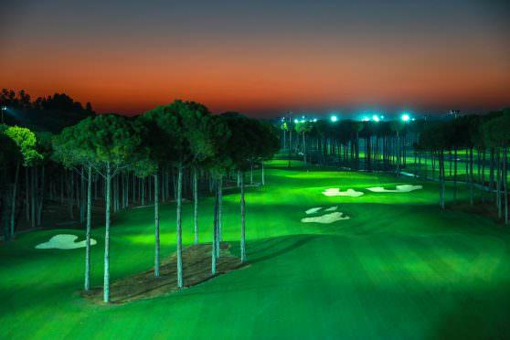 Carya Golf Club under floodlights