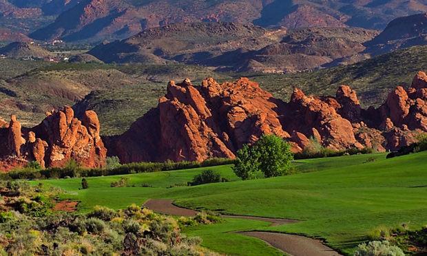 red rock golf trail st. george utah sky mountain
