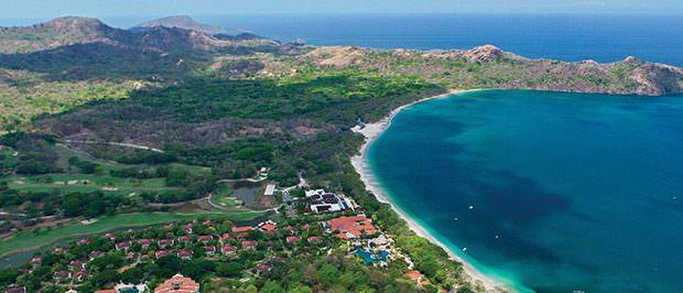 costa rica reserva conchal aerial