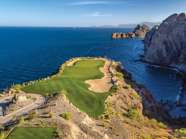 View of Danzante Bay's 17th hole, overlooking the Sea of Cortez