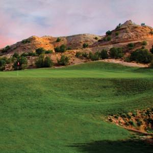 towa golf club green at buffalo thunder