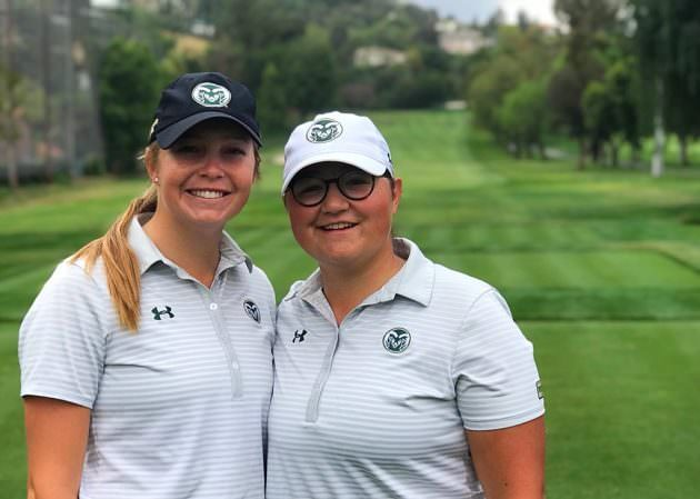 Katrina Prendergast (left) and Ellen Secor are in the Final Four of the Four-Ball.