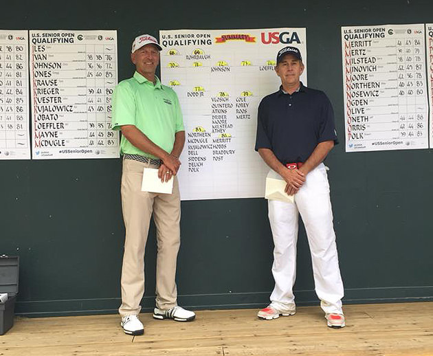 Colorado PGA members Doug Rohrbaugh (left) and Chris Johnson both qualified for the U.S. Senior Open at The Broadmoor