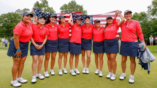 Team USA With Flag