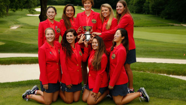 Curtis Cup team with trophy