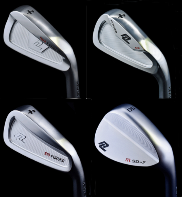 New Level's three types of irons and wedge