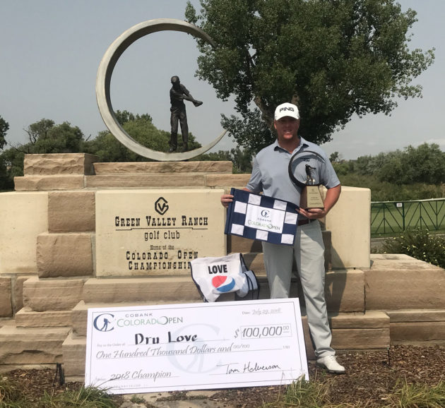 "Davis Love IV, known as ""Dru,"" wins CoBank Colorado Open"
