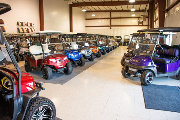 The Colorado Golf & Turf showroom on South Wadsworth Boulevard.