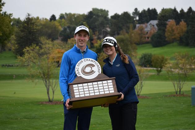 2018 JGAC Tour Championship winners Jackson Klutznick and Charlotte Hillary.