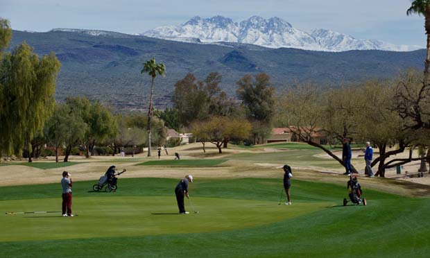 Rio Verde with snow capped peak in the background
