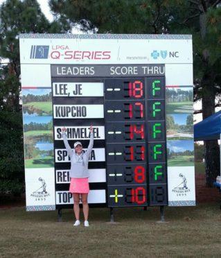 Jennifer Kupcho after qualifying for the LPGA Tour in November.