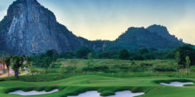 Chee Chan Buddha overlooking Thailand's Chee Chan Golf Resort