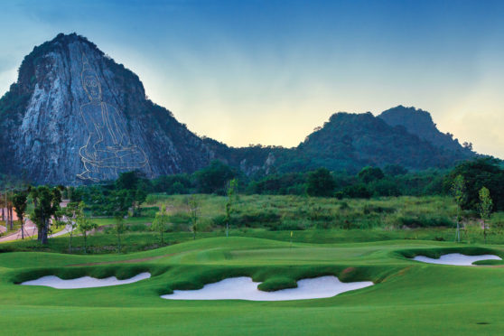 Chee Chan Buddha overlooking Thailand's Chee Chan Golf Resort