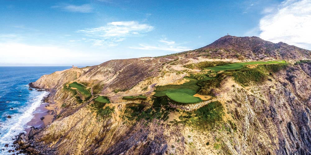 Overhead view of Quivira Golf Club along the Baja Peninsula