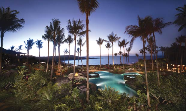The pool at The Four Seasons Resort in Lāna'i