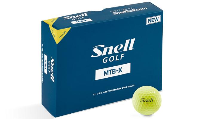 Snell Golf MTB-X Golf Ball - Yellow