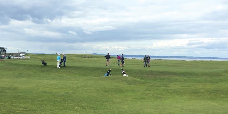 Walking at North Berwick Golf Club in Scotland