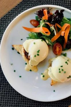 DELECTABLE: Ginger and Baker's Eggs Benedict.