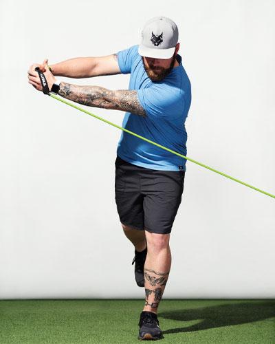 One-Legged Back Swing Chop