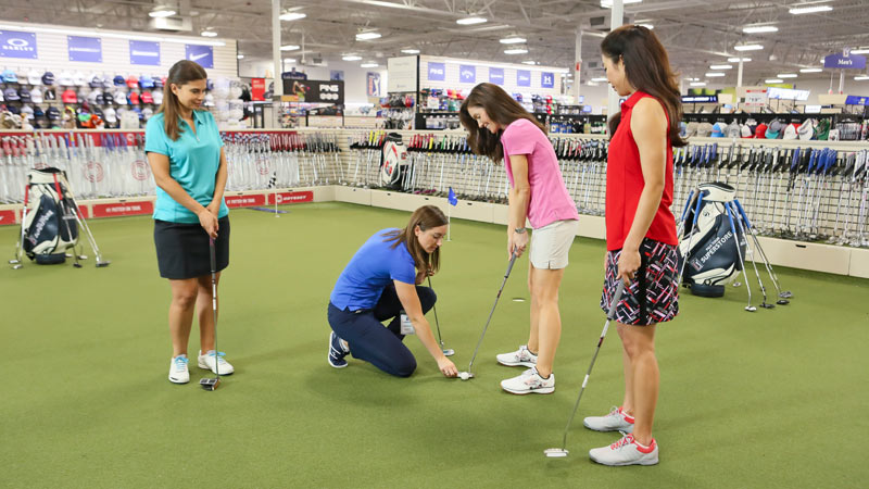 PGA TOUR Superstore, women's putting clinic