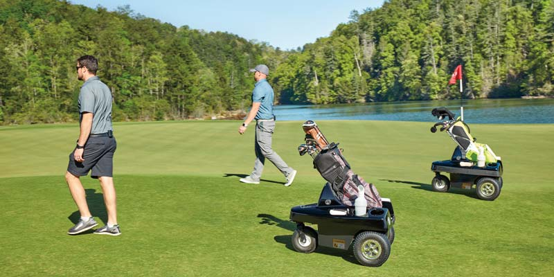 EASY CARRY: The Tempo Walk eliminates the shoulder and back strain of lugging a bag. (Photo: Club Car)