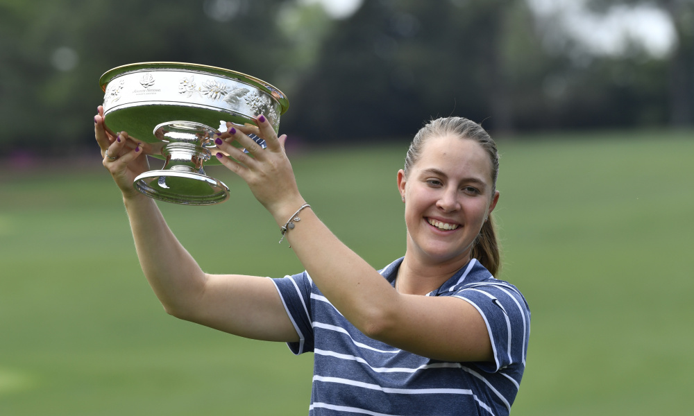 Jennifer Kupcho after winning the Augusta National Women's Amateur - Photo Courtesy of Michael Madrid, USA Today Sports