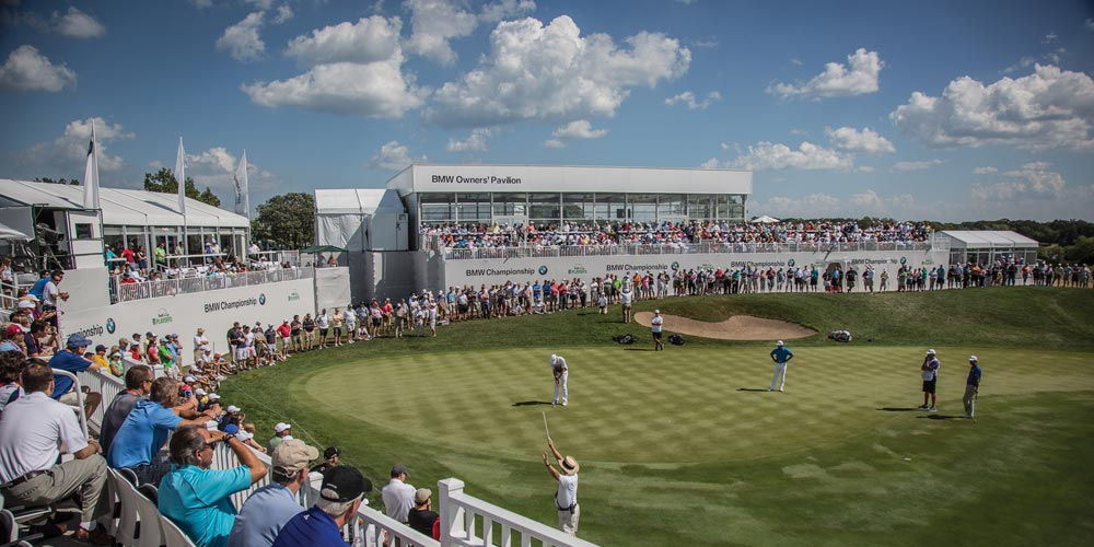 """The """"grand grand"""" prize of the raffle will be to the 2019 BMW Championship at Medinah Country Club in suburban Chicago."""