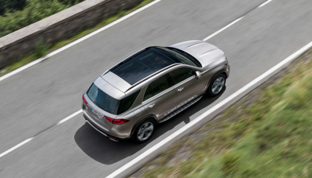 Mercedes GLE from above
