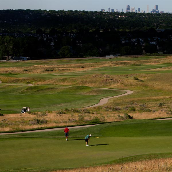 Golfers playing golf in Lakewood, Colorado