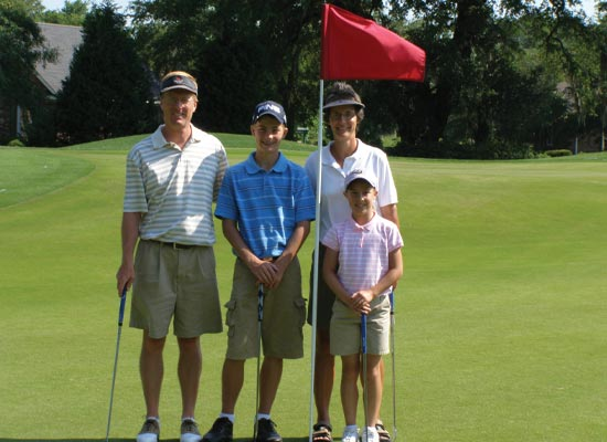 The Family playing golf
