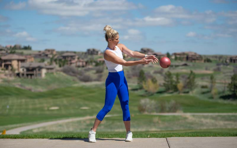 Medicine Ball Strength Exercise, Step 1