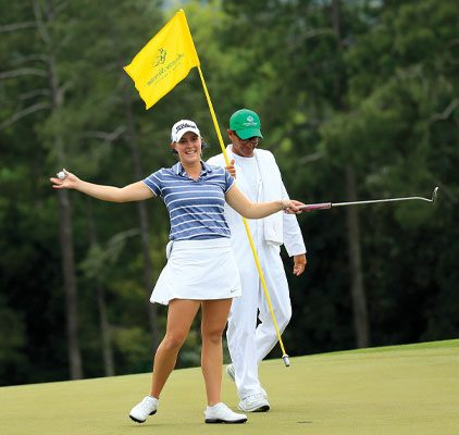 Kupcho after her win at the Augusta National Women's Amateur