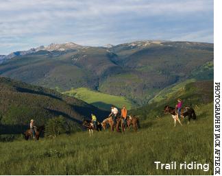 Trail Riding at The Club at Cordillera - Vail Valley