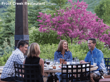 Frost Creek Restaurant in Vail Valley