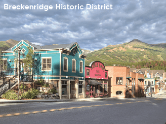 The historic district in Breckenridge - Summit County