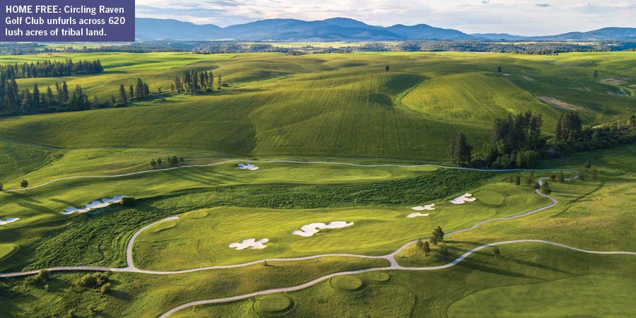 Circling Raven Golf Clubs unfurls across 620 lush acres of tribal land in Idaho.