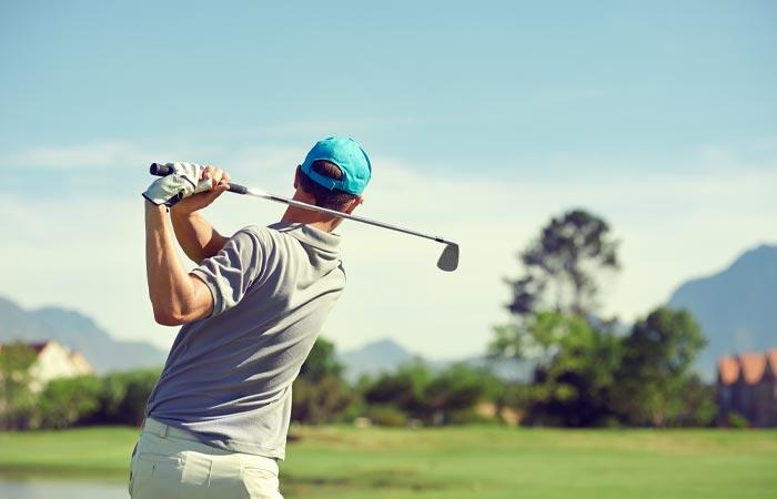 Golfer at Garden of the Gods Resort & Club